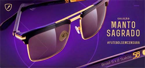 óculos de sol coleção Chilli Beans placar de jogos para Copa do Mundo