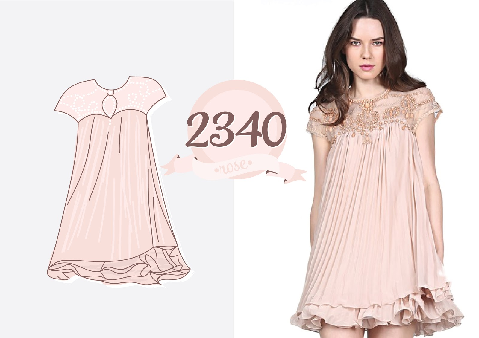 http://ru.sheinside.com/Apricot-Short-Sleeve-Lace-Pleated-Chiffon-Dress-p-112684-cat-1727.html
