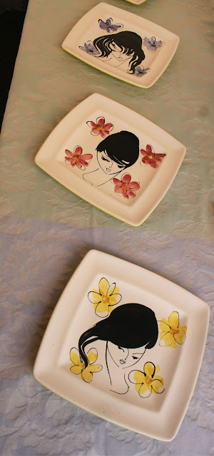 Charming 1960s plates