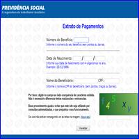 Extrato de pagamento pela internet, INSS, Internet