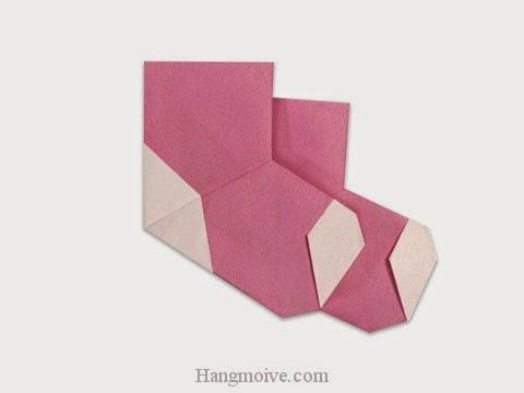 Cách gấp, xếp đôi tất bằng giấy origami - Video hướng dẫn xếp hình đồ thời trang - How to fold a Socks
