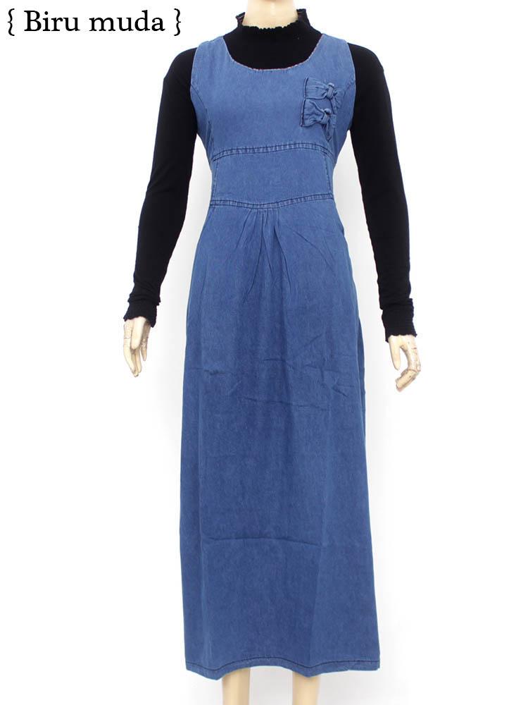 Gamis Semi Jeans Gsj264 Busana Muslim Baju Muslim