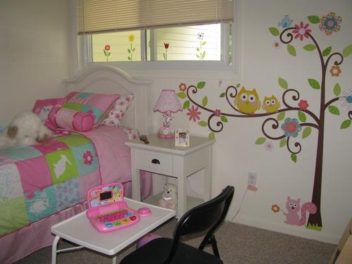 C mo decorar el dormitorio de ni as para que se vea como una princesa con pegatinas para pared - Vinilos decorativos aki ...