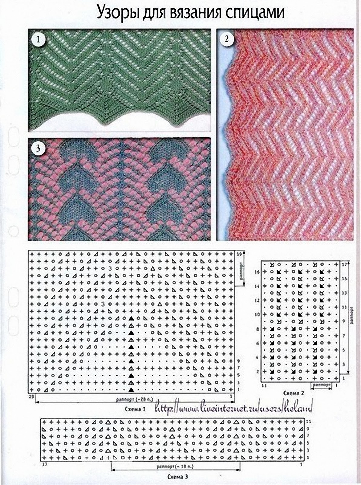 Узоры для вязания спицами схемы 26 фотография