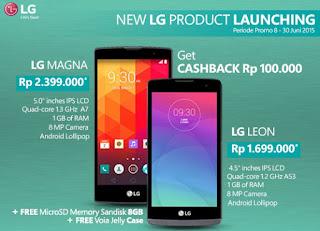 Promo Smartphone Android Lollipop LG Magna dan LG Leon