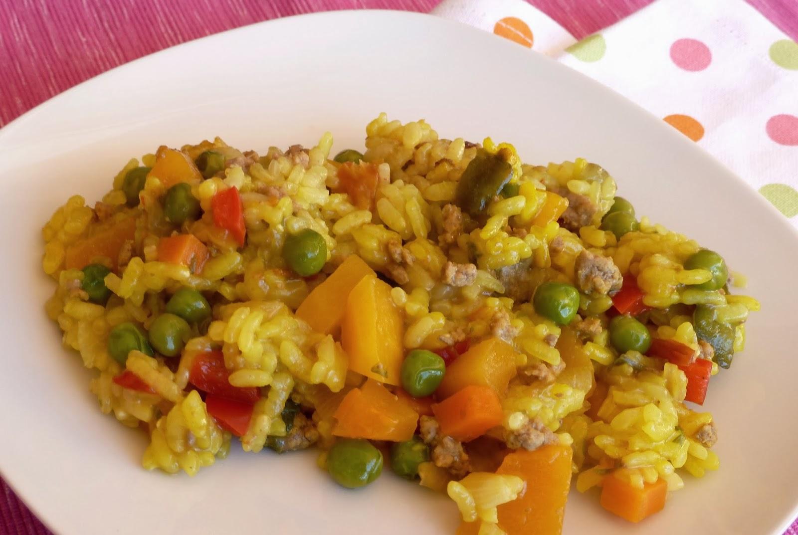 una fiera en mi cocina arroz con calabaza y carne picada