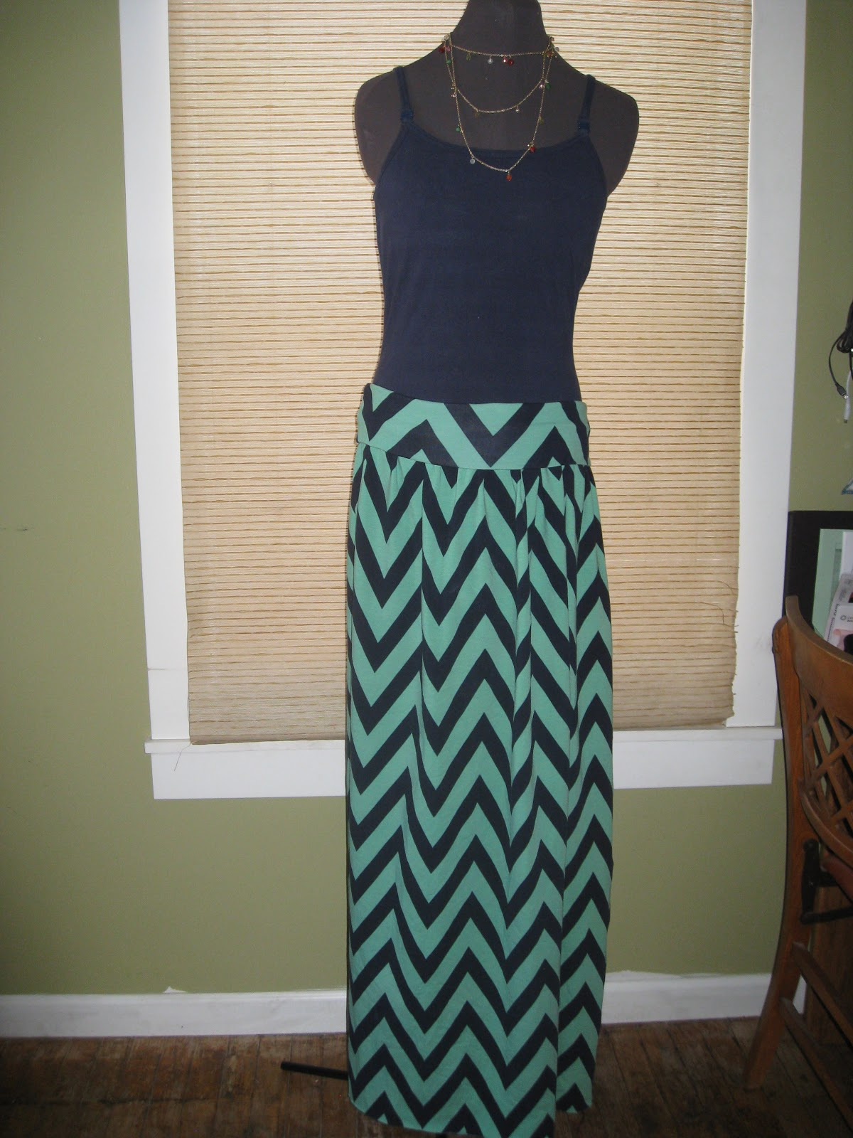 seamingly smitten knit maxi skirt sewing pattern for