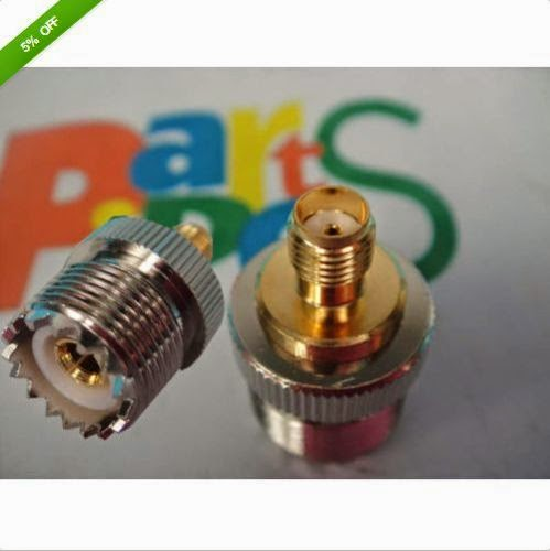 1pcs UHF Female PL259 Jack to SMA Female Plug Adapter,UB2 dd