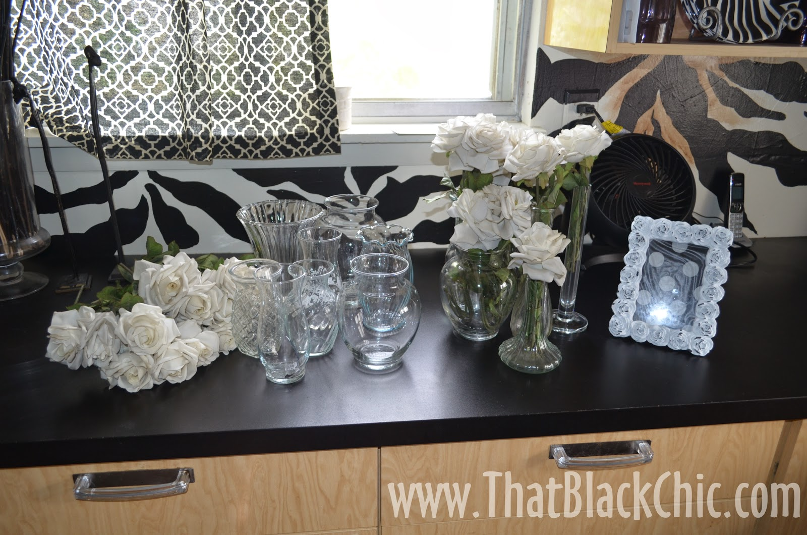 Diy table centerpieces made for conversation that black chic total spent 1500 for a priceless experience i gave each person the picture frames and a vase of flowers as a parting gift jeuxipadfo Choice Image