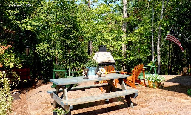 P1090677 Good ole fashioned wood picnic table!