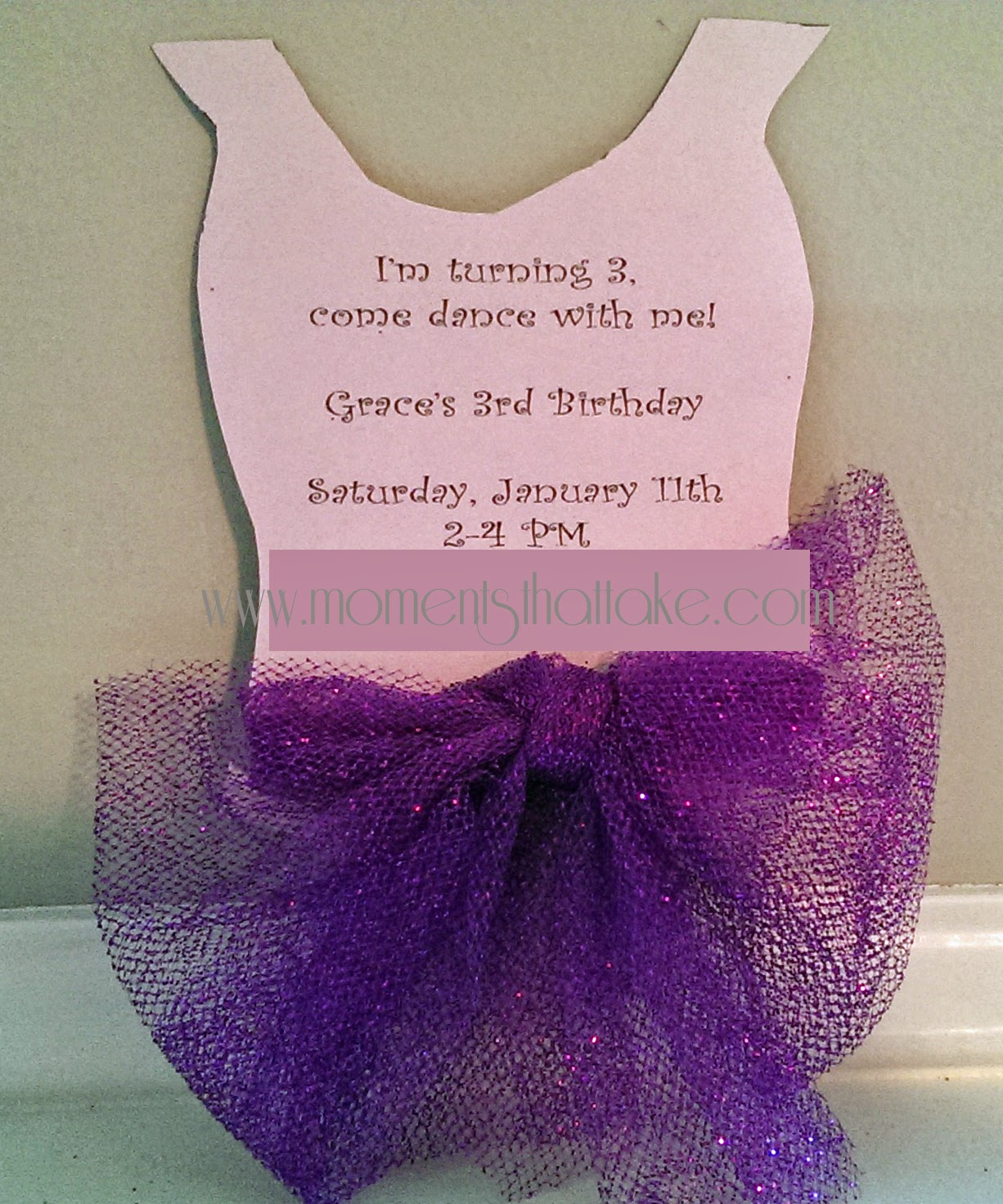 Ballet Party DIY Free Printable Invitation