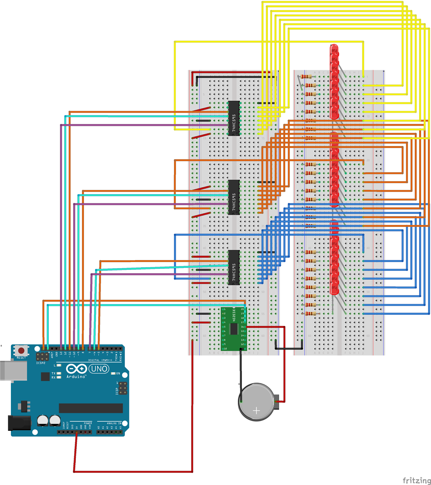 Led binary clock project
