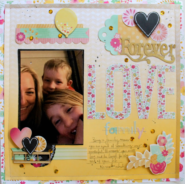 Forever Love layout by Bernii Miller for BoBunny using the your' invited collection.