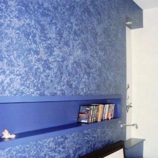 Tecniche di pittura pareti spugnato beautiful frattazzo for Muro spugnato
