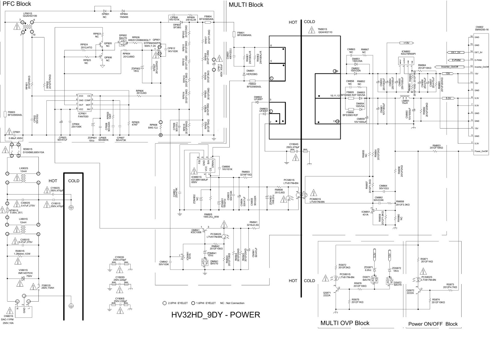 1.bmp samsung ln 26b350f1 ln 32b350f1 tft lcd tv power and samsung wiring diagram at soozxer.org