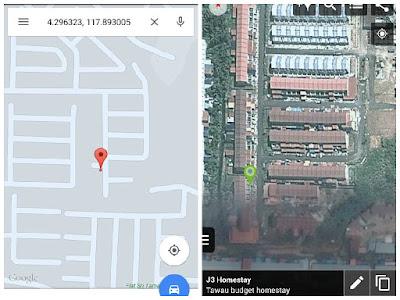 Peta Lokasi J3 Homestay Tawau
