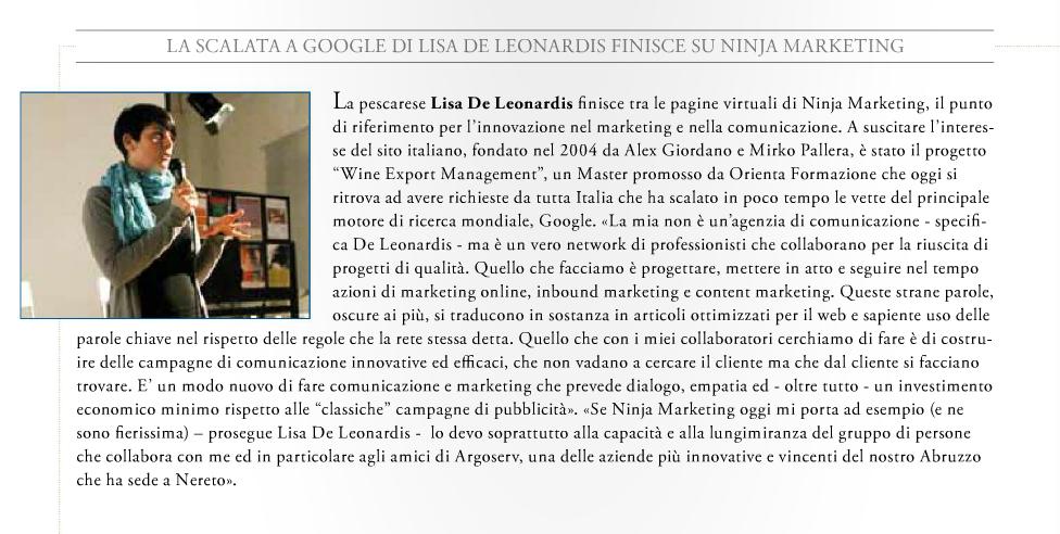 Lisa De Leonardis e le attività di inbound marketing su abruzzo impresa