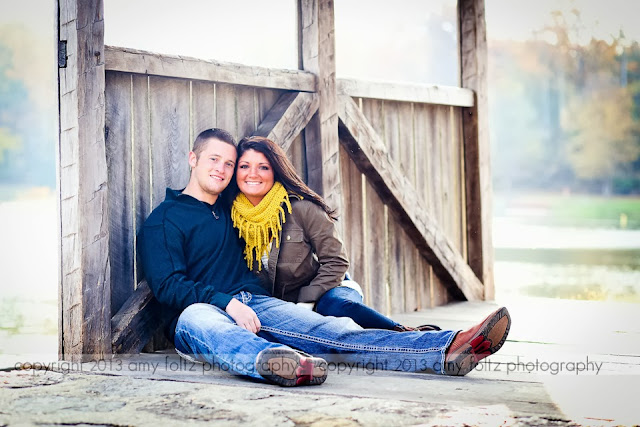 photo of couple on bridge at Fowler Park in Terre Haute, IN