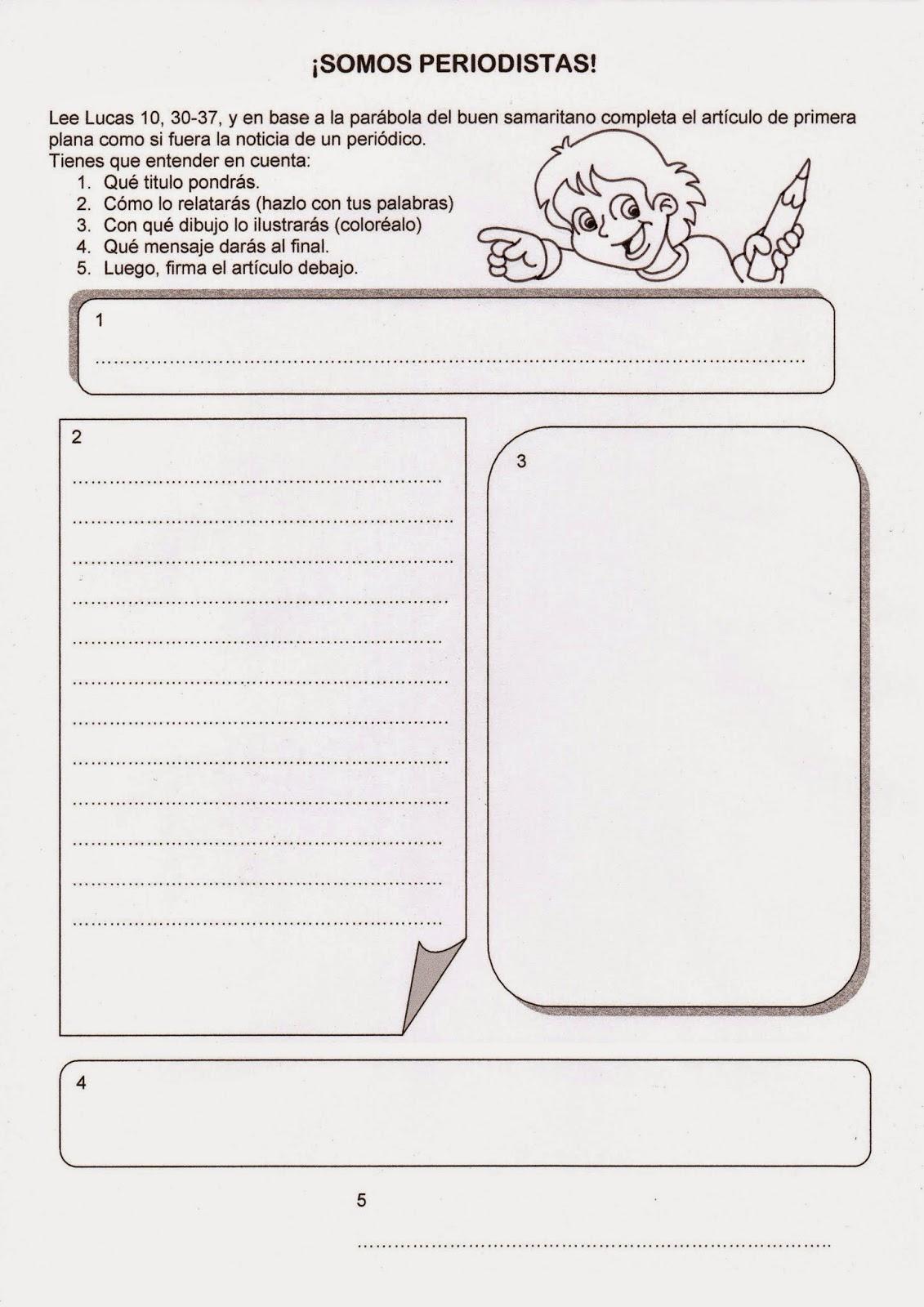 Dibujos para catequesis PARBOLA DEL BUEN SAMARITANO 2