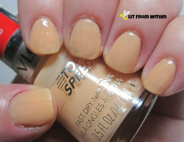 Revlon Polished, a crelly creamsicle-cantalope color