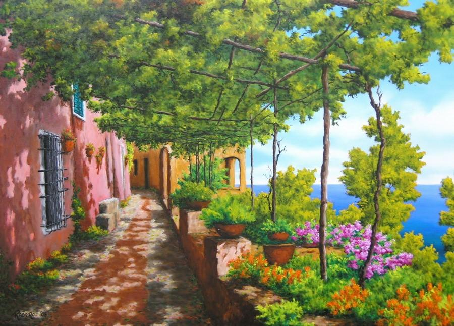 Im genes arte pinturas paisajes de flores hermosas for Pinturas bonitas para casas