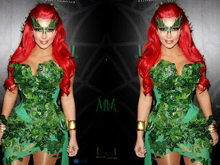 Kim Kardashian Halloween Costume Poison Ivy Picture