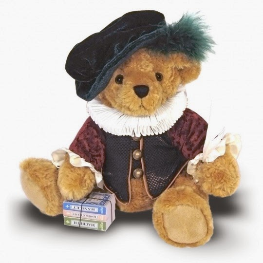 Teddy bear dressed as Shakespeare