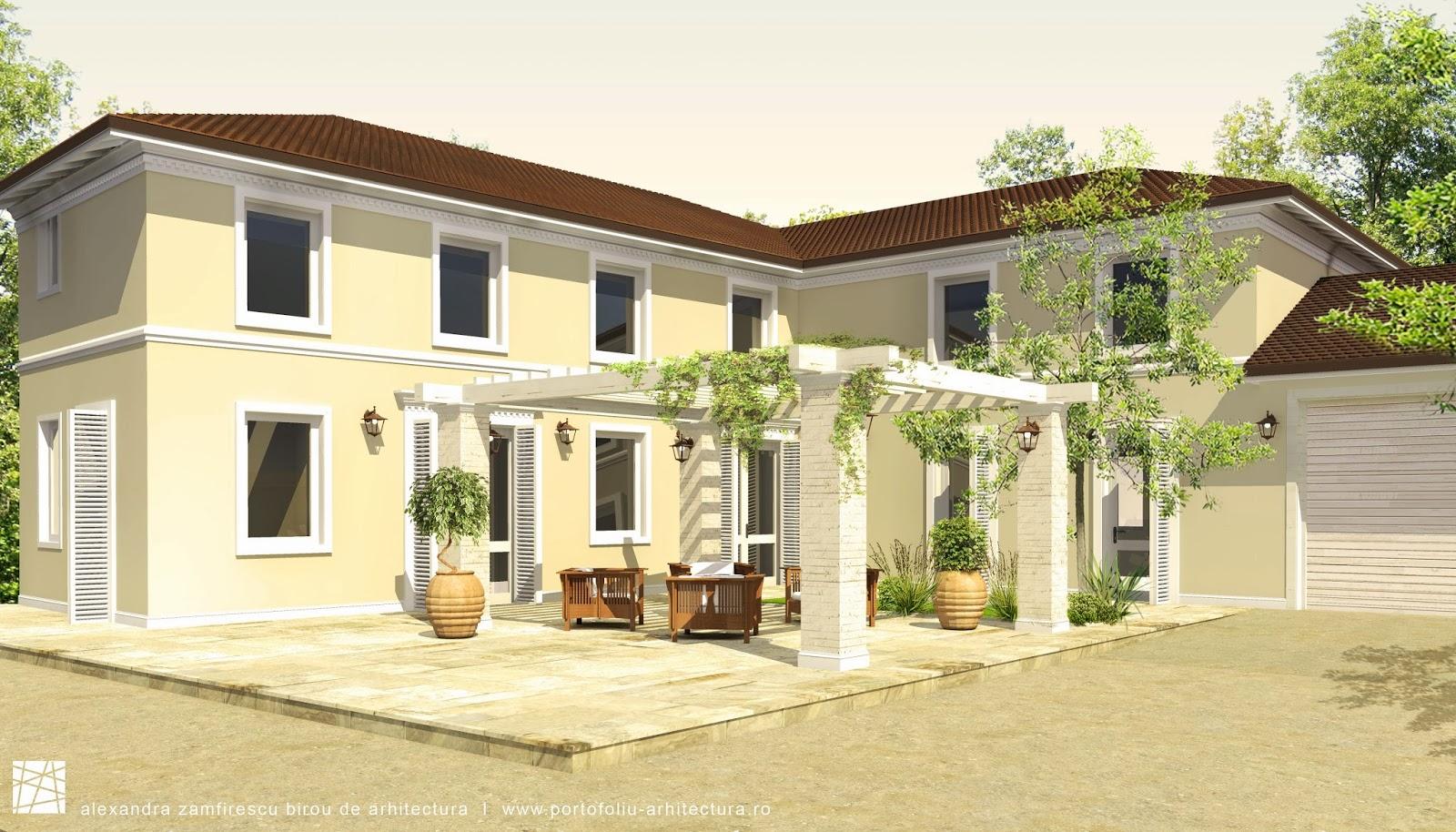 Propunere de design clasic pentru fatada unei constructii for Design exterior fatade case