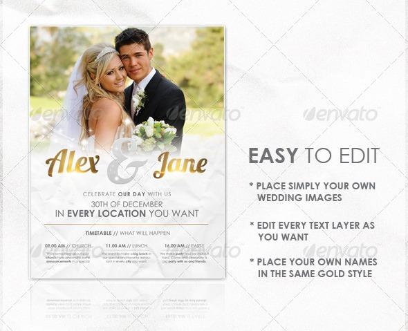 wedding flyer template graphicriver blogger joomla wordpress templates. Black Bedroom Furniture Sets. Home Design Ideas