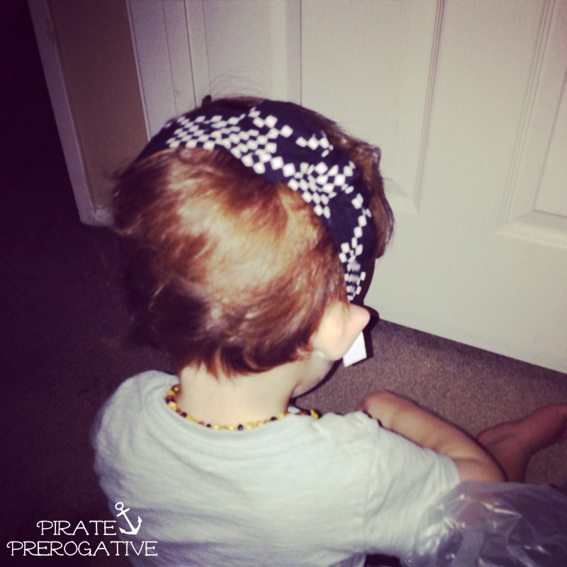 Kids love to mimic those around them. This guy is modeling my latest accessory. | Pirate Prerogative
