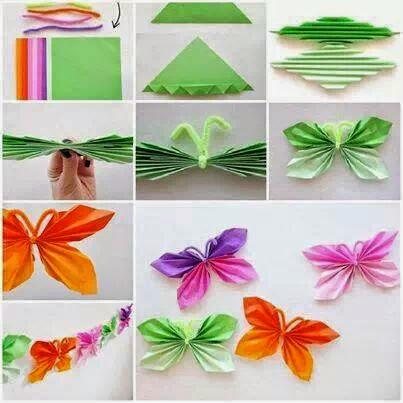 id es fait main comment faire des papillons en papier. Black Bedroom Furniture Sets. Home Design Ideas