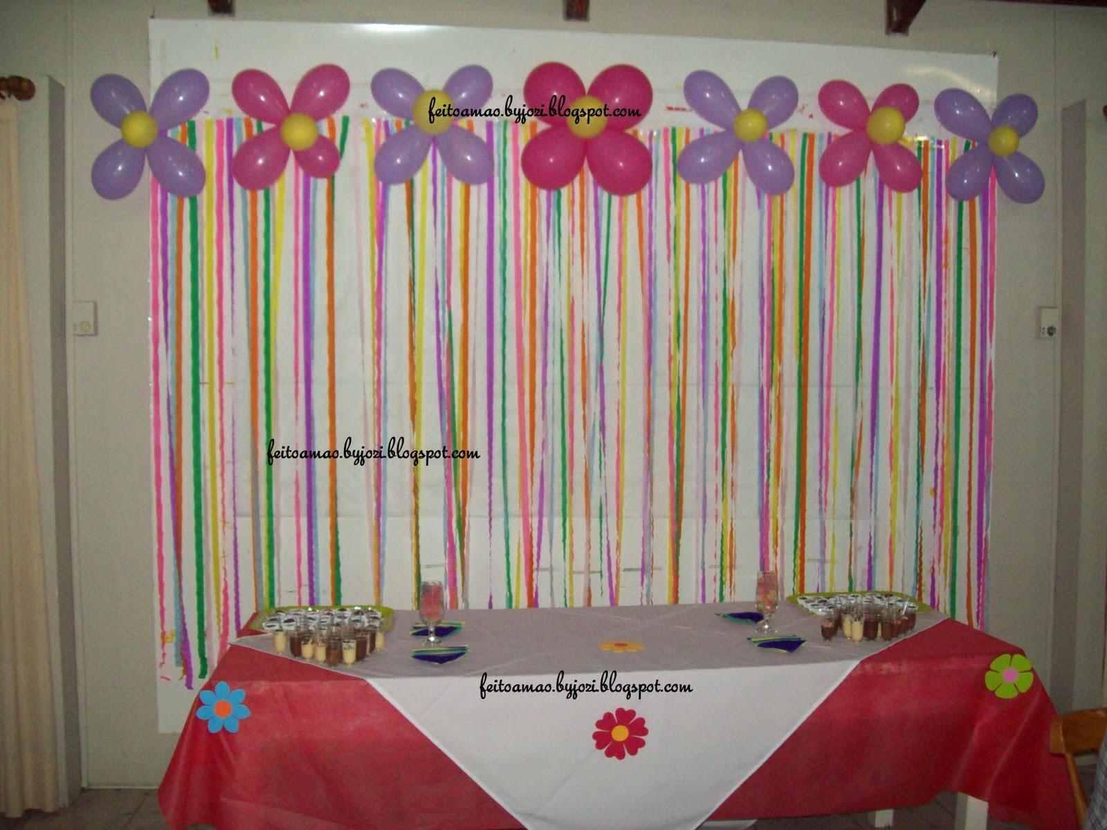 Crescendo com Cristo Dicas de decoraç u00e3o com tnt -> Decoração Simples De Aniversário Com Tnt