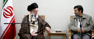 Ali Khamene'i and Mahmoud Ahmedinejad