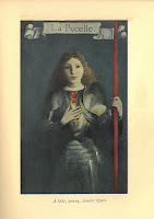 Saint Joan of Arc as La Pucelle in full armor