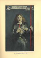 Saint Joan of Arc as La Pucelle in full armor