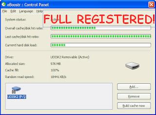 Use USB as RAM - eBoostr PRO v4.0.0.554 [x32 x64]