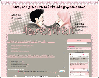 Blog ku berwajah baru lagi lagi...