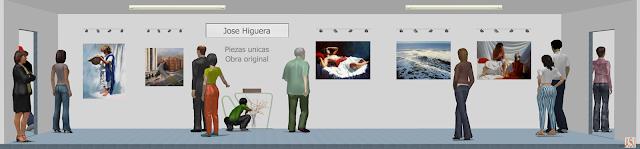 """<img src=""""http://3.bp.blogspot.com/-b1MTBR2I3N8/UqY2hgGJrVI/AAAAAAAARYQ/lkUzZzTGhVE/s1600/Sala+de+exposici%C3%B3n+virtual+de+Jose+Higuera.png"""" alt=""""Sala de exposición virtual de pinturas de Jose Higuera""""/>"""