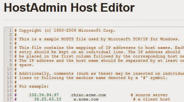 HostAdmin plugin editor
