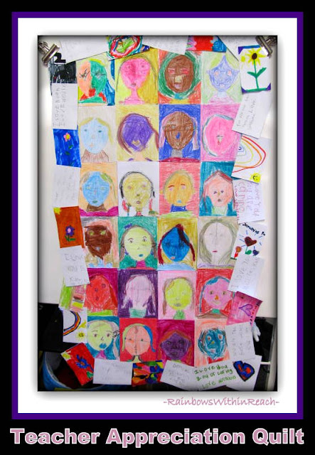 photo of: Teacher Appreciation Quilt via RainbowsWithinReach