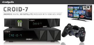 DREAMEDIA CROID 7 HD IPTV NOVA ATUALIZAÇÃO V1.12 - 03/12/2015