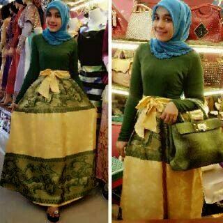 Gaun muslim elegan terbaru model masa kini untuk pesta