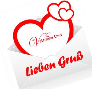 Valentinsbild Grusskarte