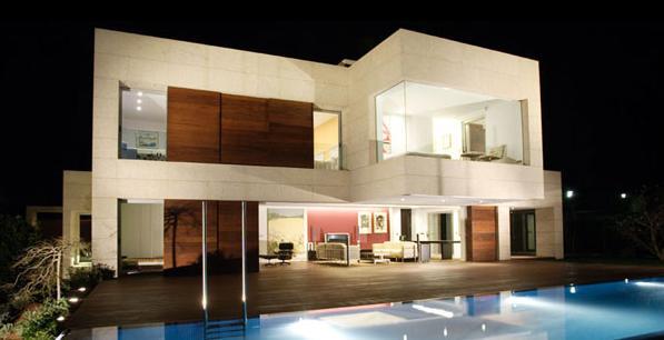 Construindo minha casa clean inspira es de fachadas for Fachadas chalets modernos