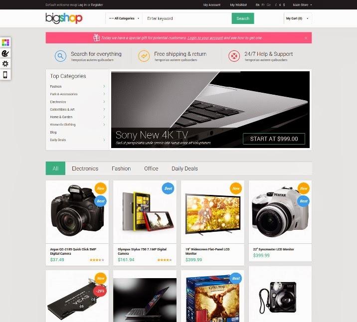 Gala BigShop - Responsive Magento Theme