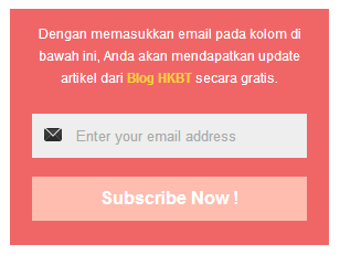 Widget Subscribe Email ala Blog HKBT