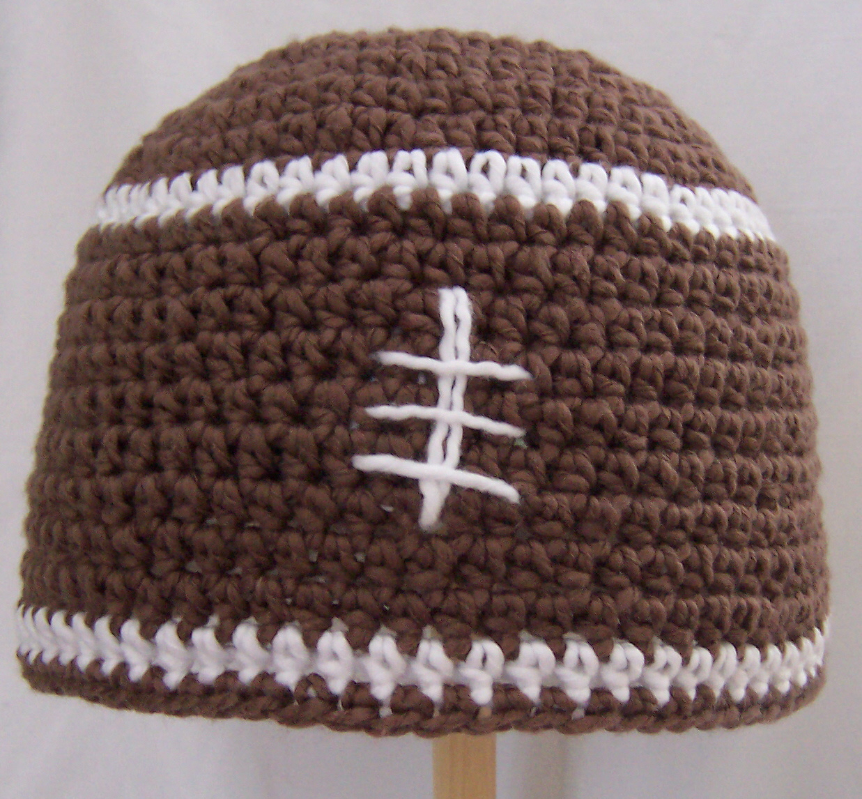 Free Crochet Patterns: Free Crochet Pattern - Football Beanie Chemo Hat