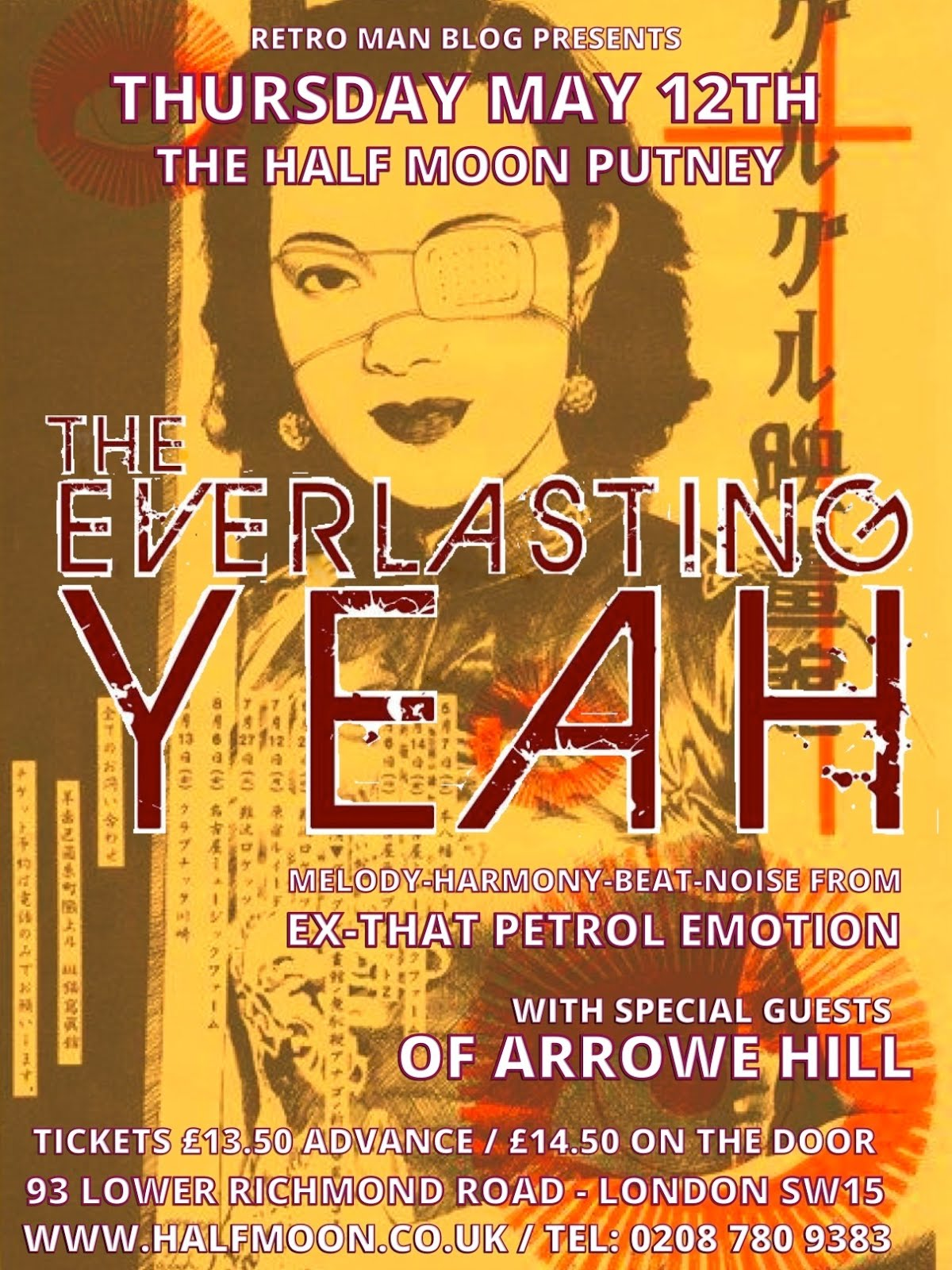 The Everlasting Yeah (ex-That Petrol Emotion & The Undertones) Half Moon Putney May 12th