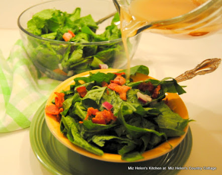 Wilted Greens Salad with Hot Bacon Vinaigrette