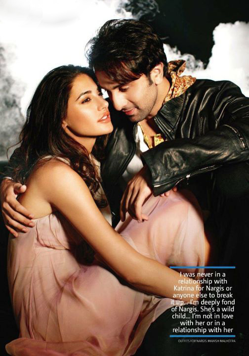 , Nargis Fakhri & Ranbir In Filmfare Magazine Stills